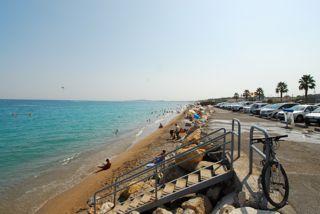 Cote d'Azur Strand Villeneuve-Loubet Richtung Antibes
